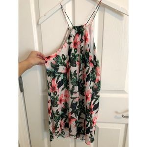 Vince Camuto tropical print dress/top size small